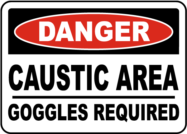 Danger Goggles Required Sign
