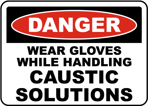 Wear Gloves While Handling Sign