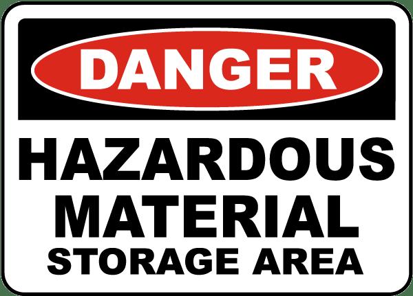Hazardous Material Storage Area Sign