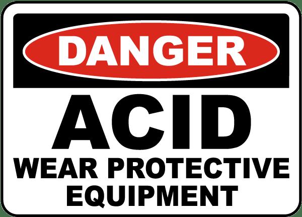 Acid Wear Protective Equipment Sign