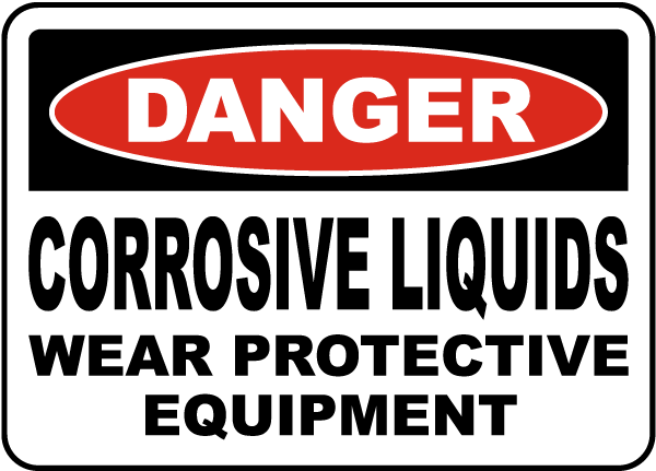 Danger Corrosive Liquids Sign