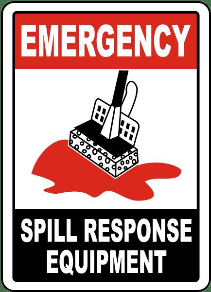Spill Response Equipment Sign