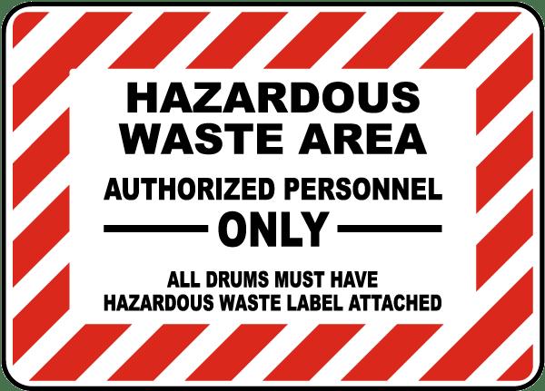 Hazardous Waste Area Sign