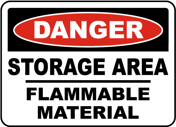 Storage Area Flammable Sign
