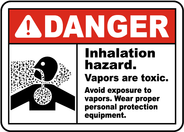 Inhalation Hazard Vapors Toxic Sign