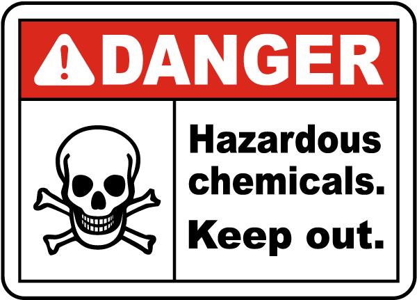 Danger Hazardous Chemicals Sign