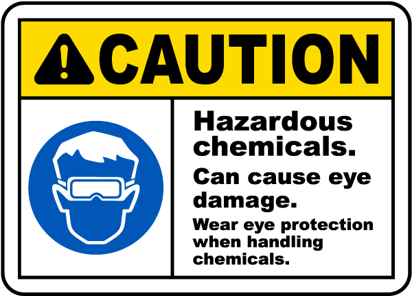 Caution Hazardous Chemicals Sign