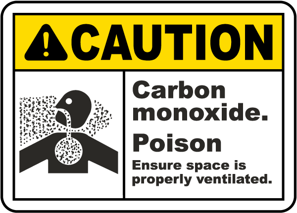 Carbon Monoxide Poison Sign