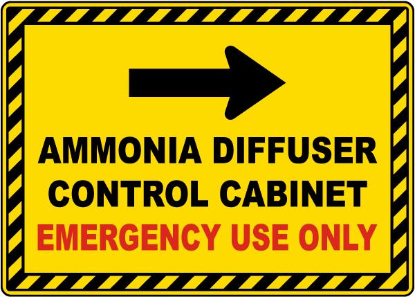 Ammonia Diffuser Control Cabinet Right Arrow Sign