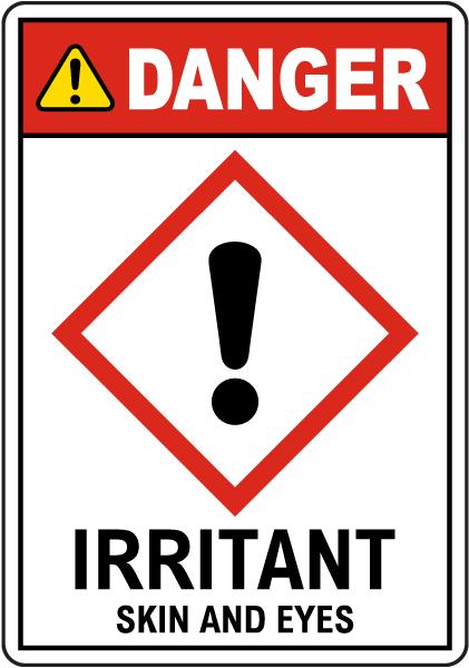 Danger Irritant GHS Sign