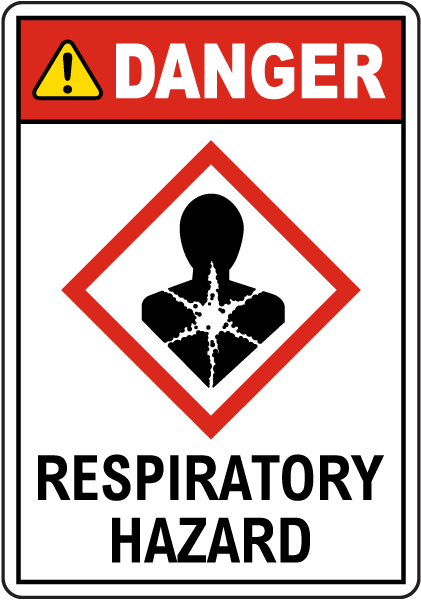 Danger Respiratory Hazard GHS Sign