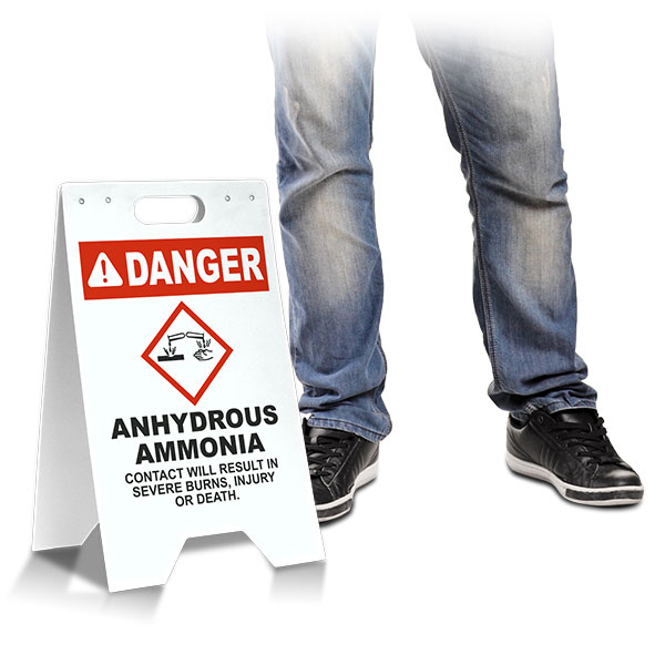 Danger Anhydrous Ammonia Floor Stand