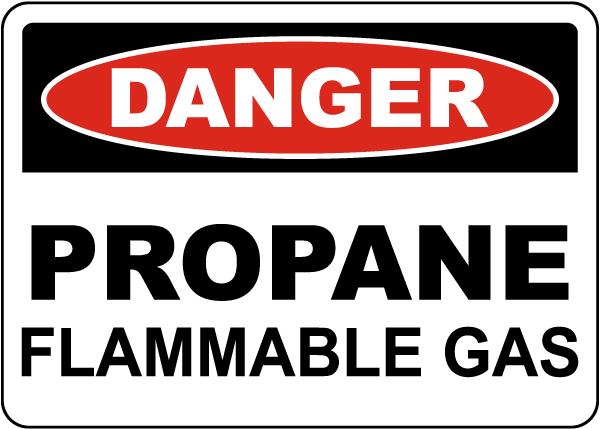 Danger Propane Flammable Gas Sign