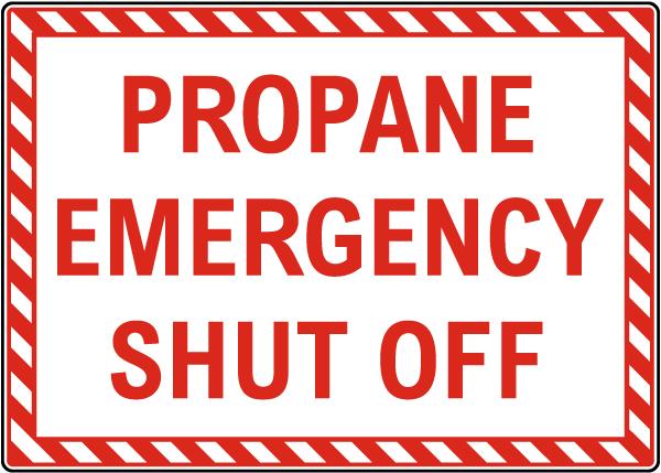 Propane Emergency Shut Off Sign