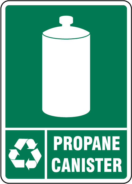 Propane Canister Recycle Sign