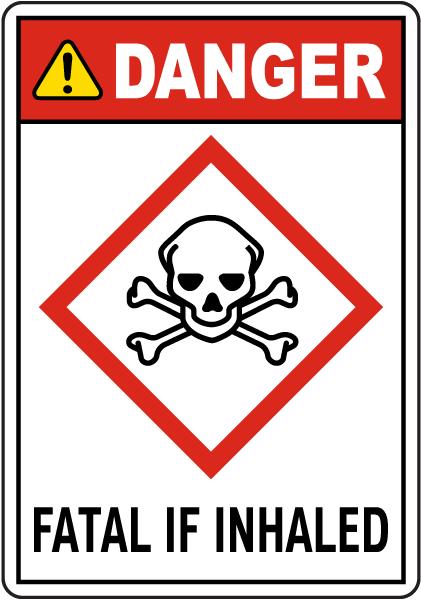 Danger Fatal In Inhaled Sign