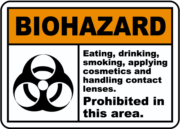 Eating Prohibited In This Area Sign