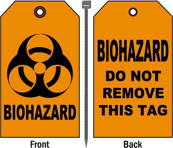 Biohazard Do Not Remove Tag