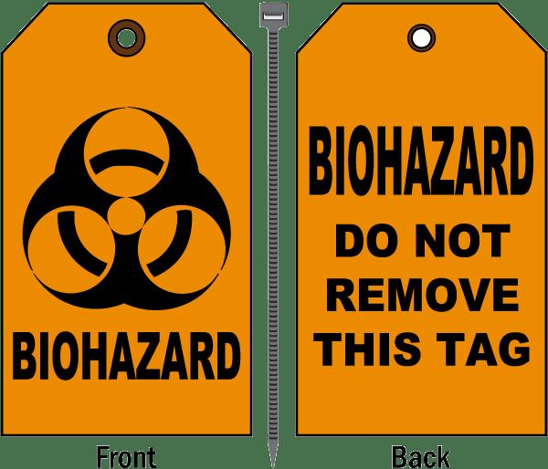 Biohazard Do Not Remove Tag