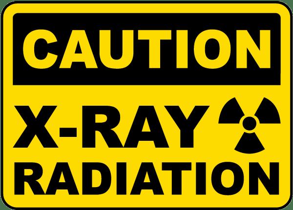 Caution X-Ray Radiation Sign