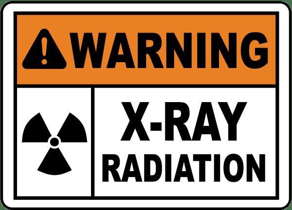 Warning X-Ray Radiation Sign