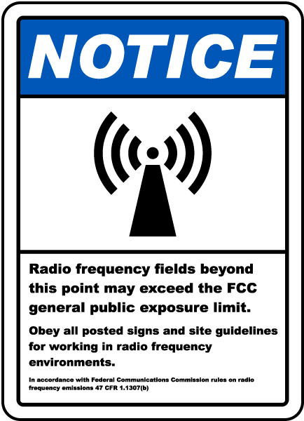 RF Fields Beyond This Point Sign