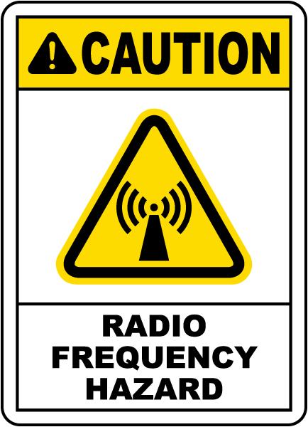 Radio Frequency Hazard Label