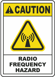 Caution Radio Frequency Hazard Label