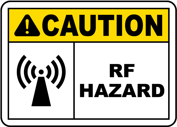 Caution RF Hazard Label