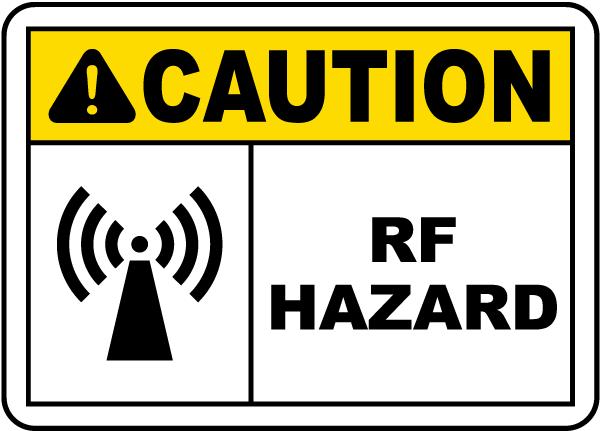 Caution RF Hazard Label