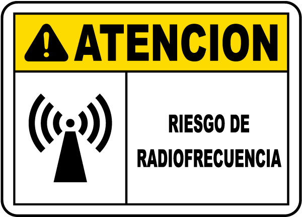 Spanish Caution RF Hazard Label