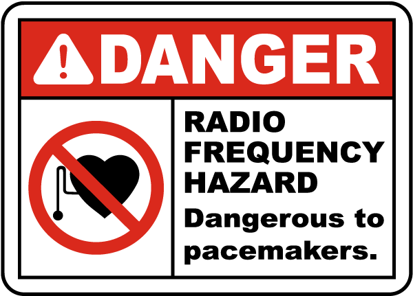 Radio Frequency Hazard Sign