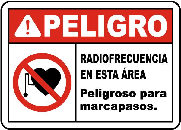 Spanish Danger Radio Frequency Hazard Sign