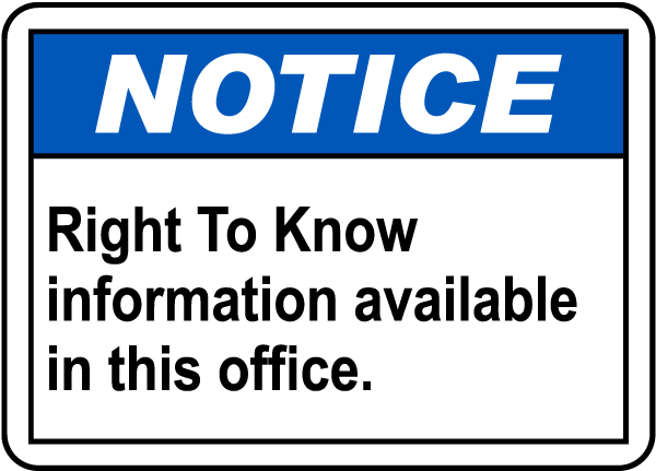RTK Info Available In This Office Sign