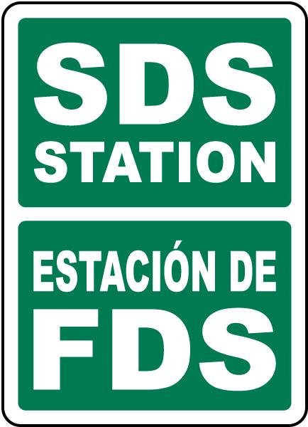 Bilingual SDS Station Sign