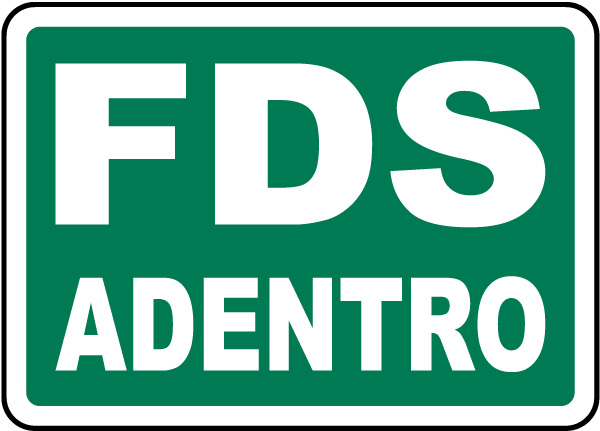 Spanish SDS Inside Sign