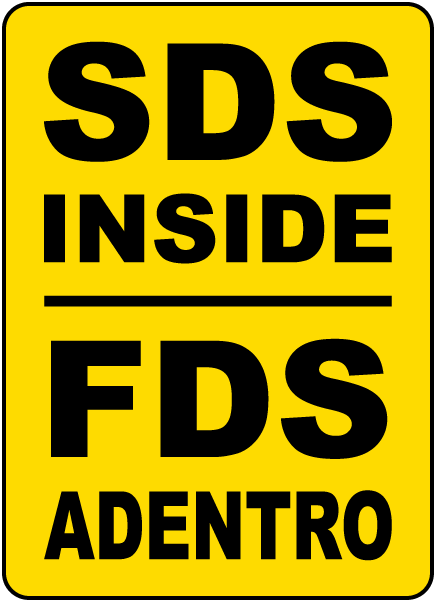 Bilingual SDS Inside Sign