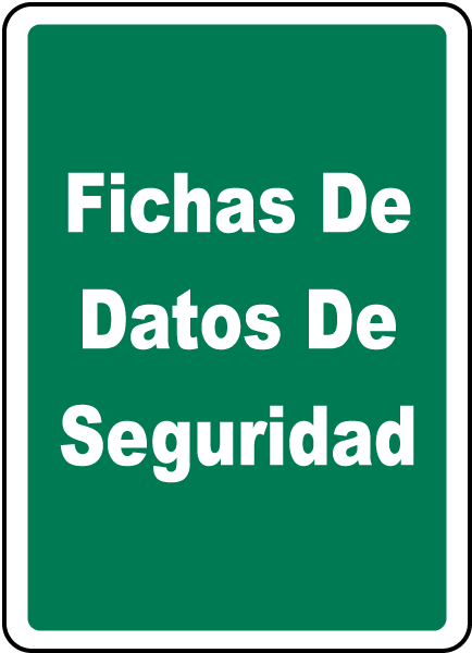 Spanish Safety Data Sheets Sign