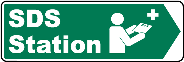 Right Arrow SDS Station Sign