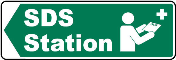 Left Arrow SDS Station Sign