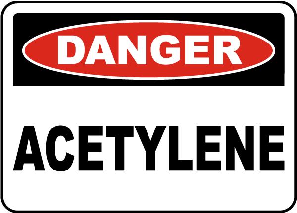 Danger Acetylene Sign