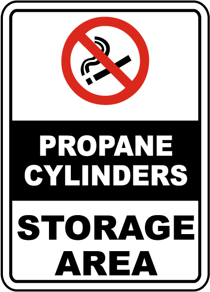 Propane Cylinders Storage Area Sign