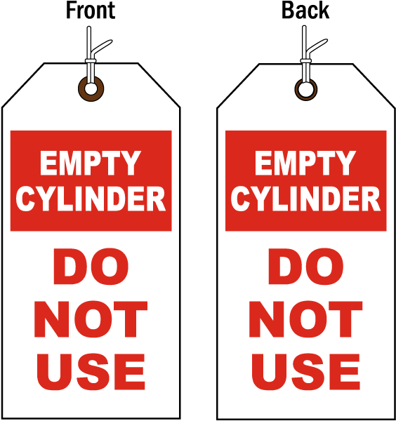 Empty Cylinder Status Tag