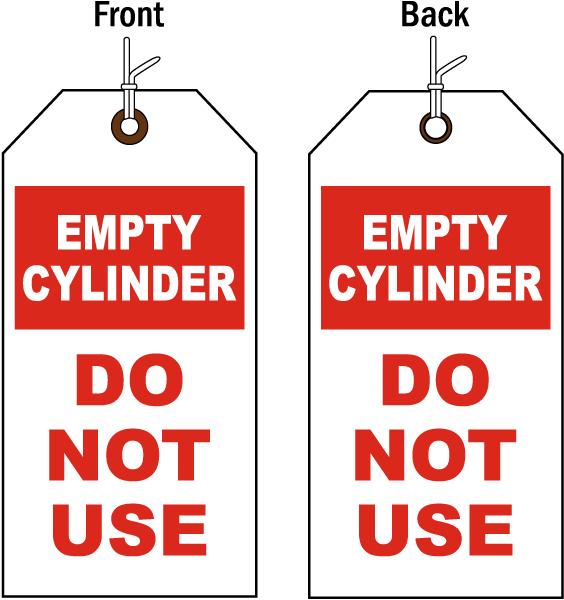 Empty Cylinder Status Tag