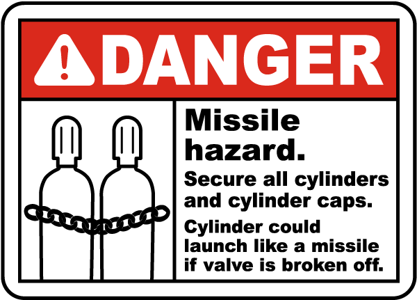 Danger Missile Hazard Sign