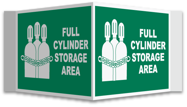 3-Way Full Cylinder Storage Area Sign