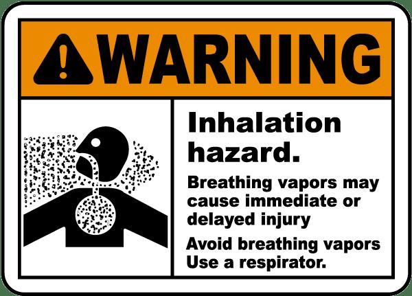 Avoid Breathing Vapors Sign