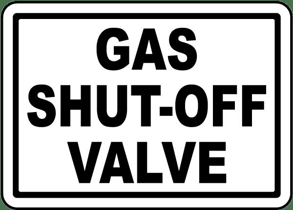 Gas Shut Off Switch Label