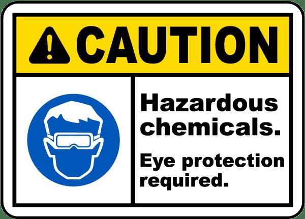Caution Hazardous Chemicals Label