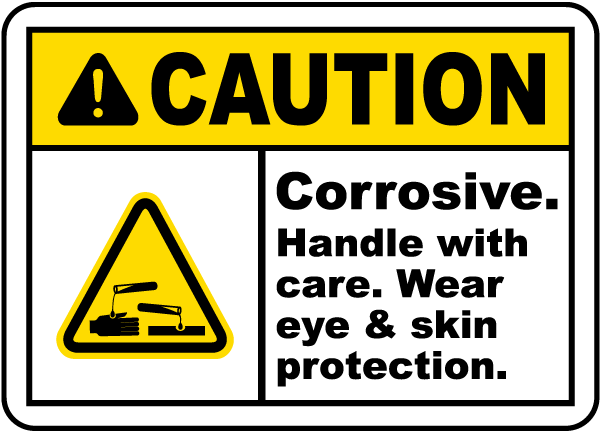 Corrosive Handle With Care Label